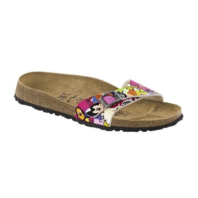 1232eb06d5a Womens Birkenstock Beige   Brown Madrid Leopard Sandals Heel To Toe ...